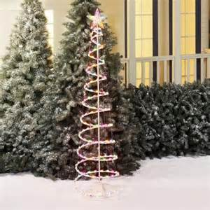 holiday time 6 multi color spiral tree light sculpture