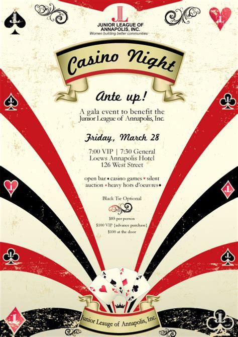 Junior League Of Annapolis Casino Night Casino Fundraiser Flyer Template