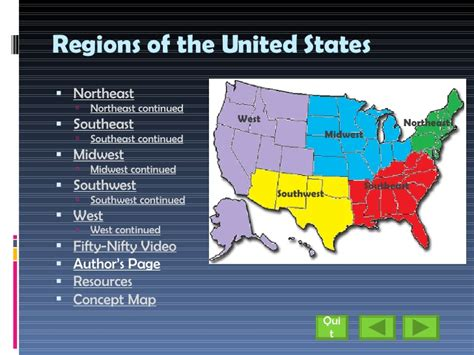 Search For In The United States 9 Regions Of The United States Images
