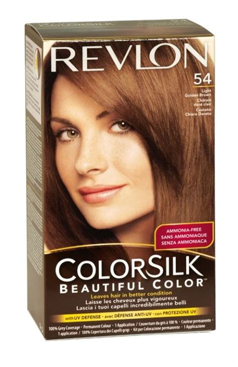 pictures of color silk decadent chocolate hair color revlon colorsilk hair colour 54 light golden brown