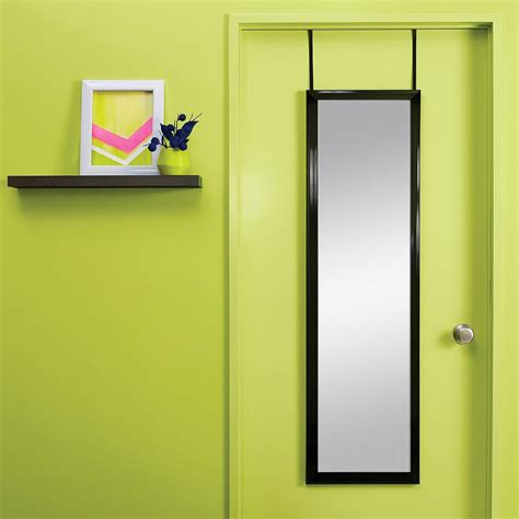 the door bring home functional style with an over the door mirror