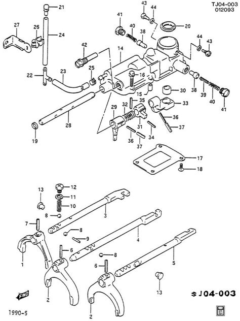 geo mv3 parts illustration manual transmission 1991 geo tracker manual transmission shift control