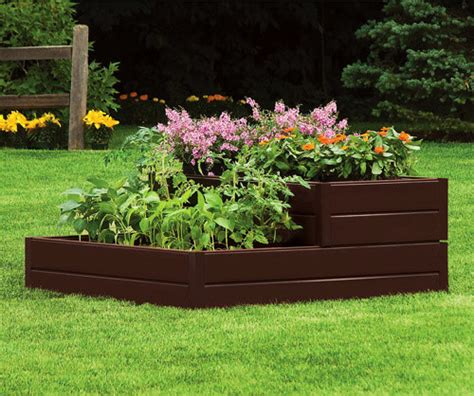 Tiered Flower Planters by Suncast Tiered Raised Garden Bed Outdoor