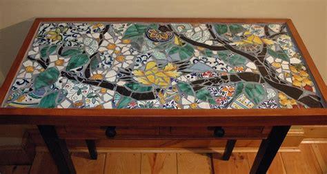 Mosaic Coffee Table Designs Song Birds Mosaic Table Mosaic Tile Pinterest