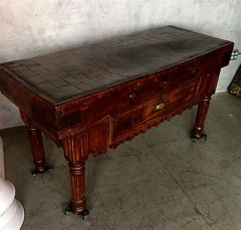 butcher block tables for sale stunning 19th c butcher block table sted