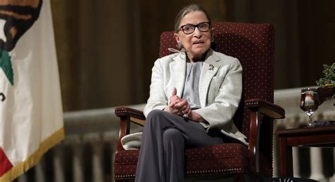 ruth bader ginsburg we re not experiencing the best of