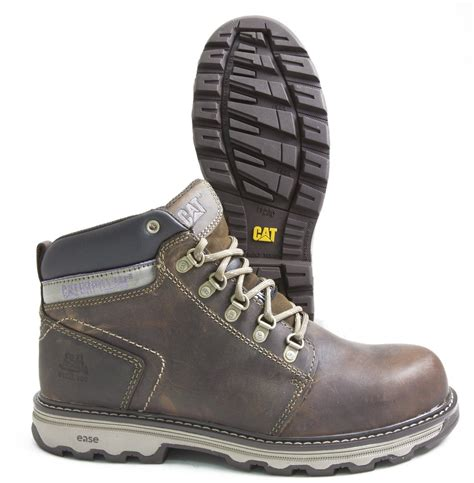 Caterpillar Shell Oxford Brown Safety Boot caterpillar ellie p90783 brown leather s steel