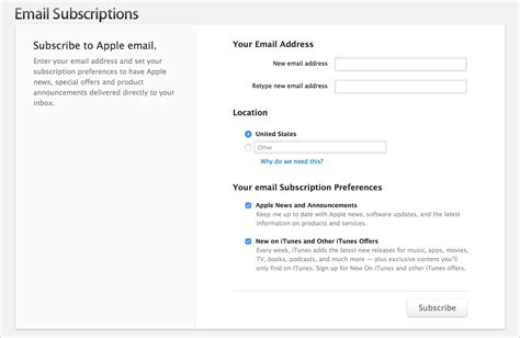 layout still needs update after calling yosemite unsubscribing from apple email subscriptions apple support