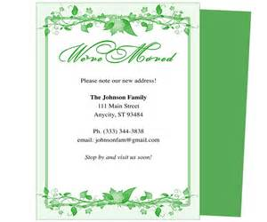 We Moved Cards Templates by 14 Best Images About Moving Announcements New Address