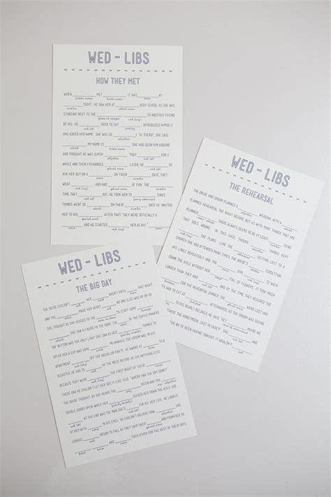 download and print your own free wedding mad libs free