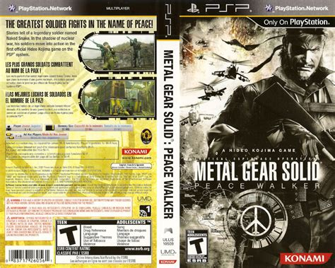 Po Import Console Psp Metal Gear Solid Peace Walker Premium metal gear solid peace walker europe iso