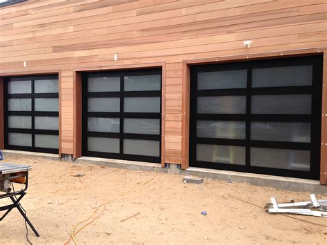 Garage Door Frames One Of A Custom Wood Frame Frosted Glass Aj Garage Door Island Ny