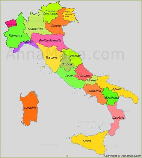la d italia mapa de las regiones de italia annamapa