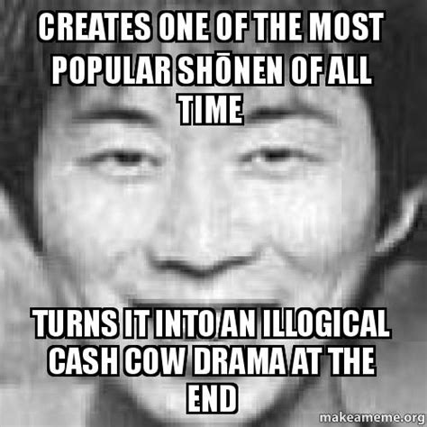 Most Popular Memes Of All Time - creates one of the most popular sh蜊nen of all time turns