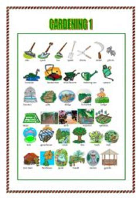 Gardening Verbs Teaching Worksheets The Garden