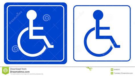 fauteuil roulant de symbole de personne d handicap image