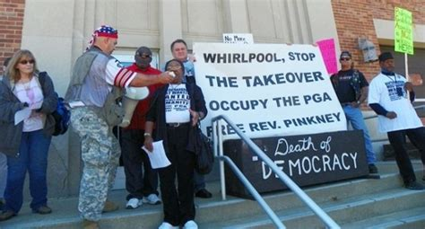 Benton Harbor Social Security Office by Rev Edward Pinkney Imprisoned For Fighting The Whirlpool