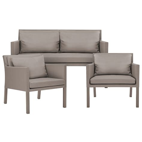 outdoor living room set lisbon2 khaki outdoor living room set