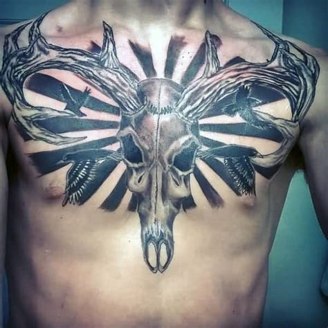 deer skull tattoo meaning 45 deer skull tattoos pictures with meanings