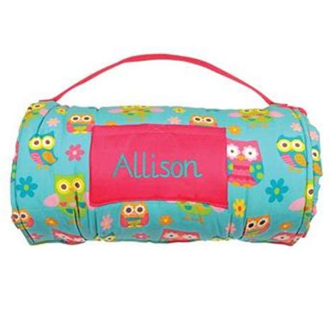 personalized owl napmat sleeping bag preschool kindergarten