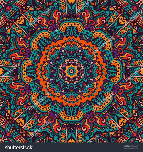 tribal pattern colorful festive colorful tribal ethnic seamless vector stock