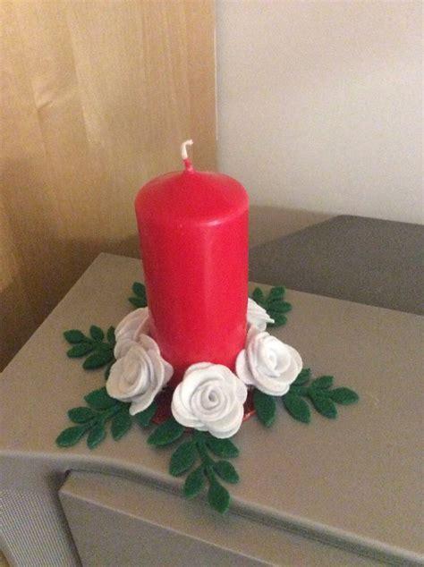 candela natalizia candela natalizia centrotavola feste natale di sogni