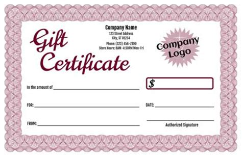 gift card maker template gift certificate maker template trove