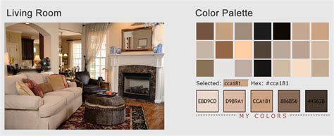 color palette home decor living room color scheme vanilla sorrell brown rustic
