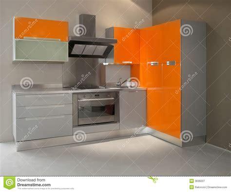 cucina arancione cucina arancione fotografia stock libera da diritti