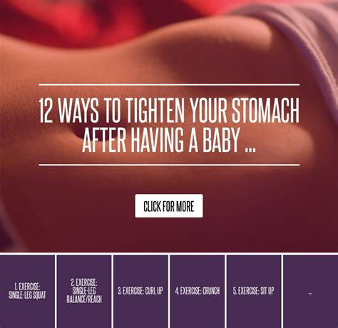 12 Ways To Tighten Your Stomach After A Baby 12 ways to tighten your stomach after a baby