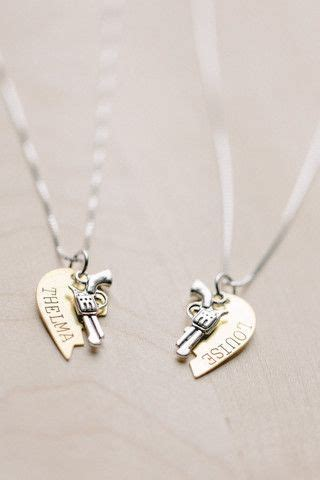 thelma and louise tattoos friend tattoos thelma louise friendship necklace