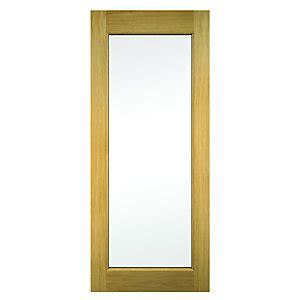 Wickes Oxford External Oak Veneer Door Glazed 2032 Octer Wickes Exterior Doors Sale