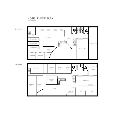 exle of floor plan drawing hotel floor plan