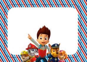 Labels or cards paw patrol free printable invitations labels or cards