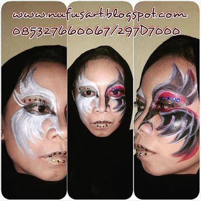 tempat tattoo glow in the dark horror make up zombie horror face paint uv glow in