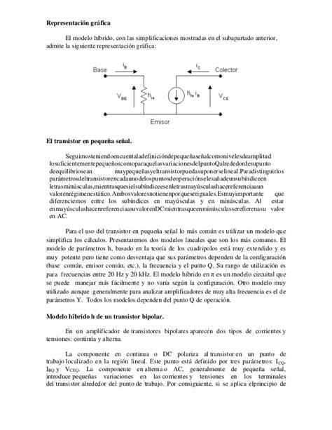 transistor bjt parametros hibridos transistor bipolar parametros hibridos 28 images transistor bjt parametros hibridos 28