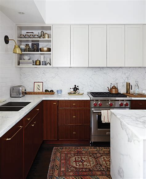 trending now kitchens with contrasting cabinets