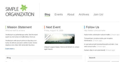 free wordpress theme simple organization arcsin web