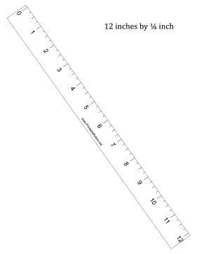 printable 12 inch ruler download this printable 12 inch ruler has 1 4 inch divisions free