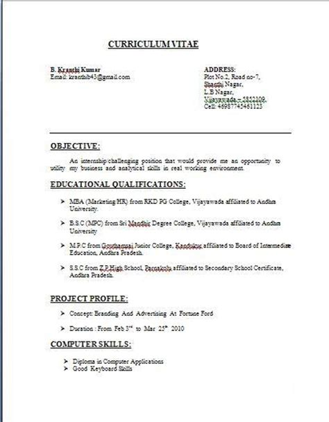 fresher resume sle 28 images resume headline sle 28 sle resume for air hostess fresher enernovva org