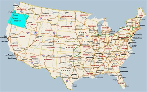 oregon usa map oregon usa map