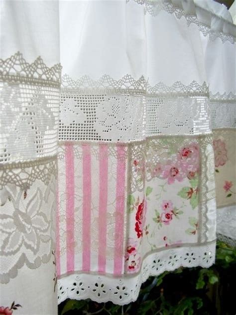 umla victorian curtains using lace patches and fabric