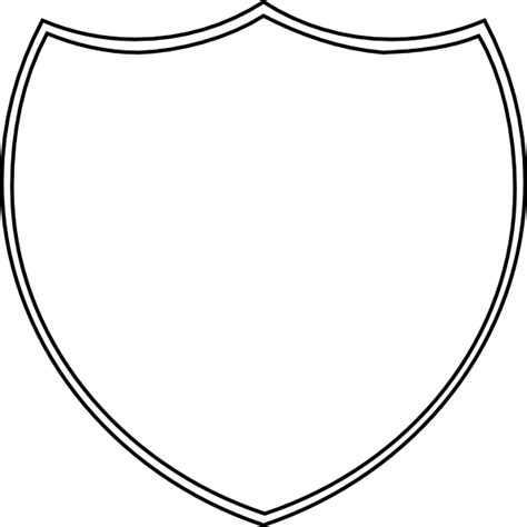 school shield template shield outline clip at clker vector clip