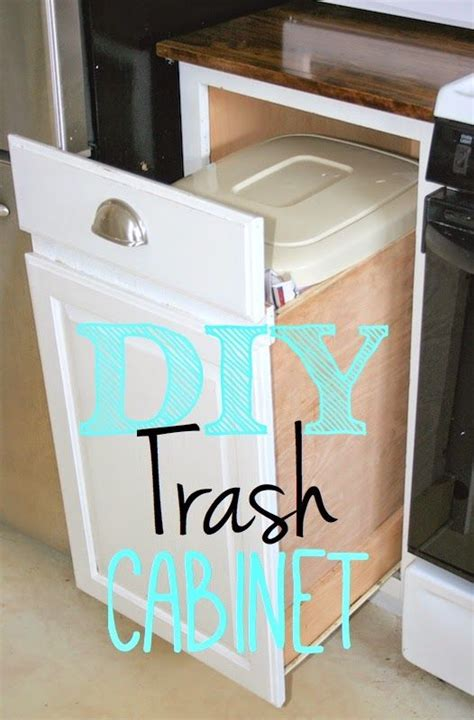 diy trash can cabinet best 25 trash can cabinet ideas on cabinet