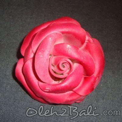 Bunga Jepun Bali Diameter 8cm bunga mawar merah 6 cm