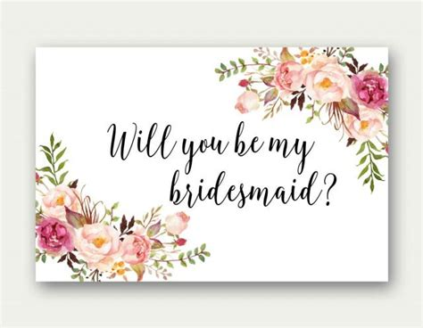 be my bridesmaid card template will you be my bridesmaid printable bridesmaid card