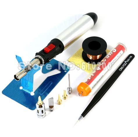 E Diy Kit Soder Wick Solder Wick 1 Tin Of 10 aerated butane gas soldering iron kit set pen torch diy tool cordless solder iron 5