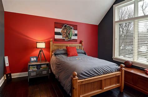 bedroom with red accent wall fiery and fascinating 25 kids bedrooms wrapped in shades