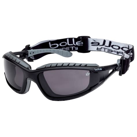 a bolle bolle 40086 tracker safety glasses goggles black grey