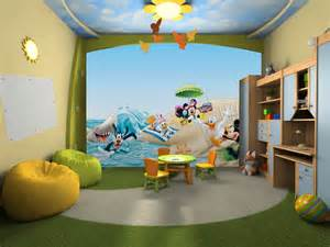 and friends bedroom decor mickey and friends beach wall mural wallpaper